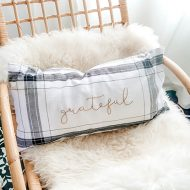 DIY Fall Pillow from Dollar Tree Towels