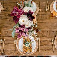 Colourful Fall Tablescape Idea on a Budget