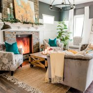 Our Cozy Fall Living Room with Simple Mantel Decor