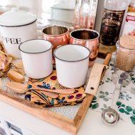Fall Coffee Station + DIY Dollar Store Tray