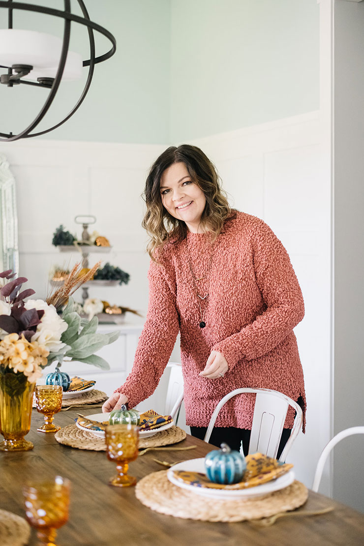 Colorful & budget friendly Fall home tour with tons of simple decorating ideas for Autumn