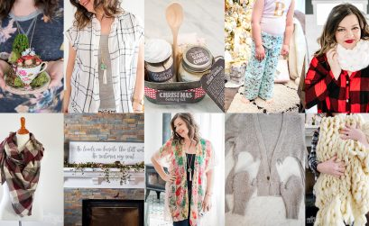 10 Simple DIY Christmas Gift Ideas: arm knit cowl, arm knit blanket, pajama pants, mittens from sweaters and more!