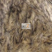 Ecoshag Faux Fake Fur Animal Long Pile Fabric - Baby Tundra Wolf - Sold by The Yard Costume Fashion Rugs