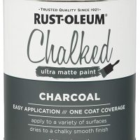 Rust-Oleum 285144 Ultra Matte Interior Chalked Paint 30 oz, Charcoal