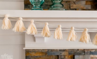 DIY Yarn Tassel Garland made from $3 thrift store yarn