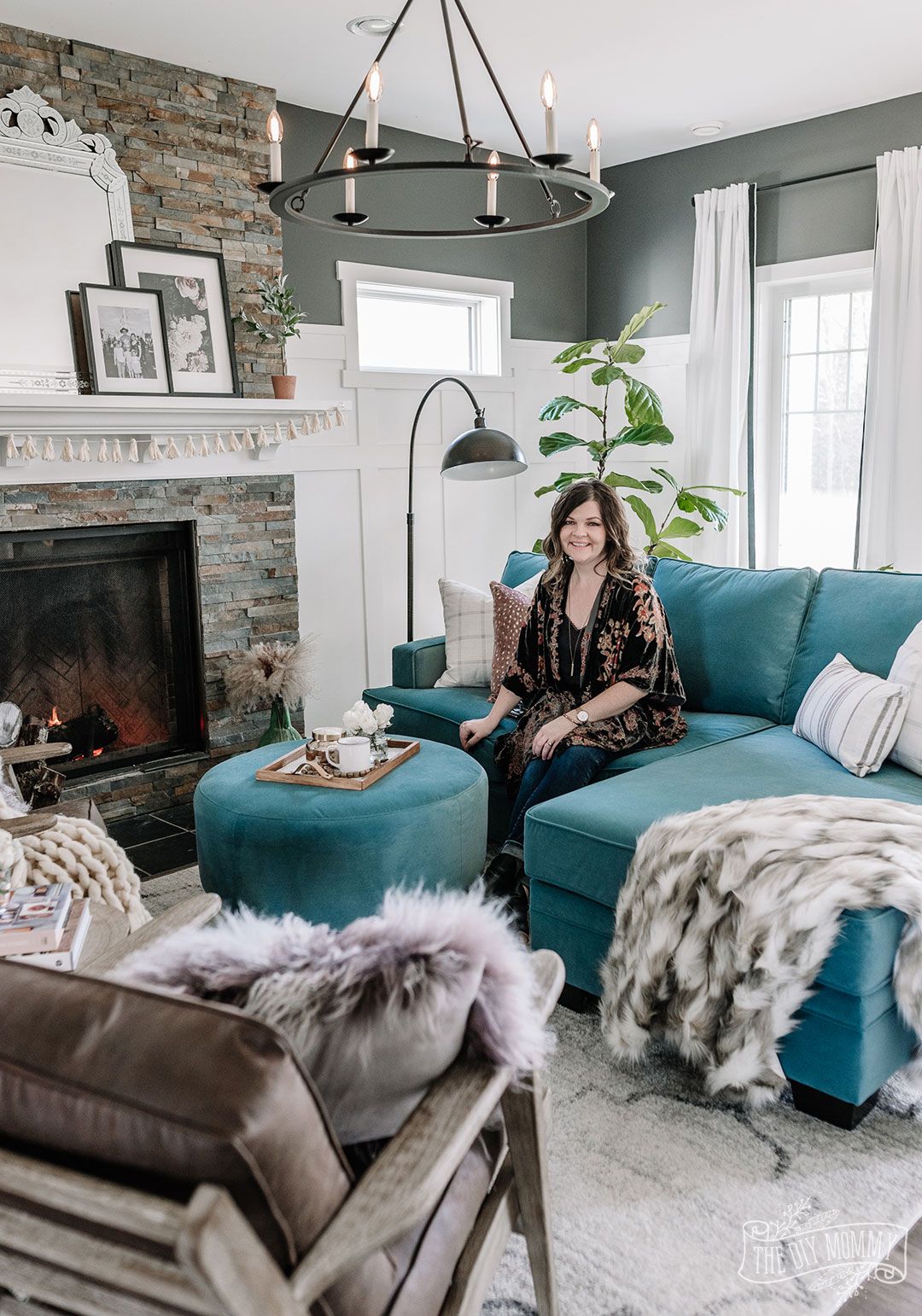 Design My Own Living Room Online Free: Our Eclectic Living Room Refresh With A Custom Velvet
