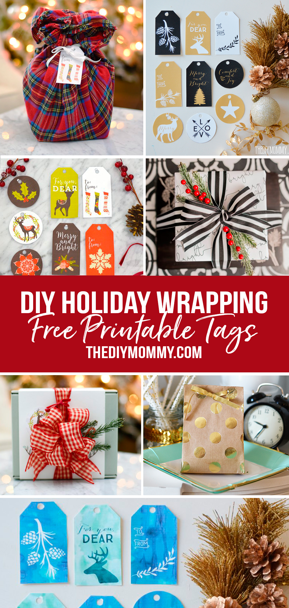This is a round up of DIY Printable Gift Wrapping, printable tags and unique gift wrapping ideas.The perfect finish for your handmade christmas gifts!