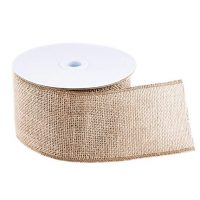 "10 Yard Burlap Natural Color Fabric Ribbon Roll for Arts & Crafts Homemade DIY Projects, Event Decorations by Super Z Outlet (3"" Inch)"