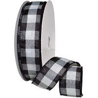 """Morex Ribbon 7398 Cambridge Ribbon, 1-1/2"""" x 50 yd, Black"""