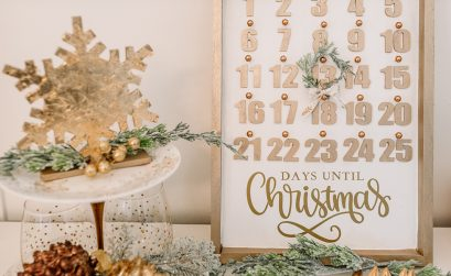 Learn how to make a beautiful DIY Christmas countdown calendar with dollar store supplies