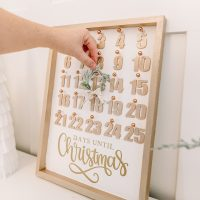DIY Christmas Countdown Calendar with Dollar Store Supplies