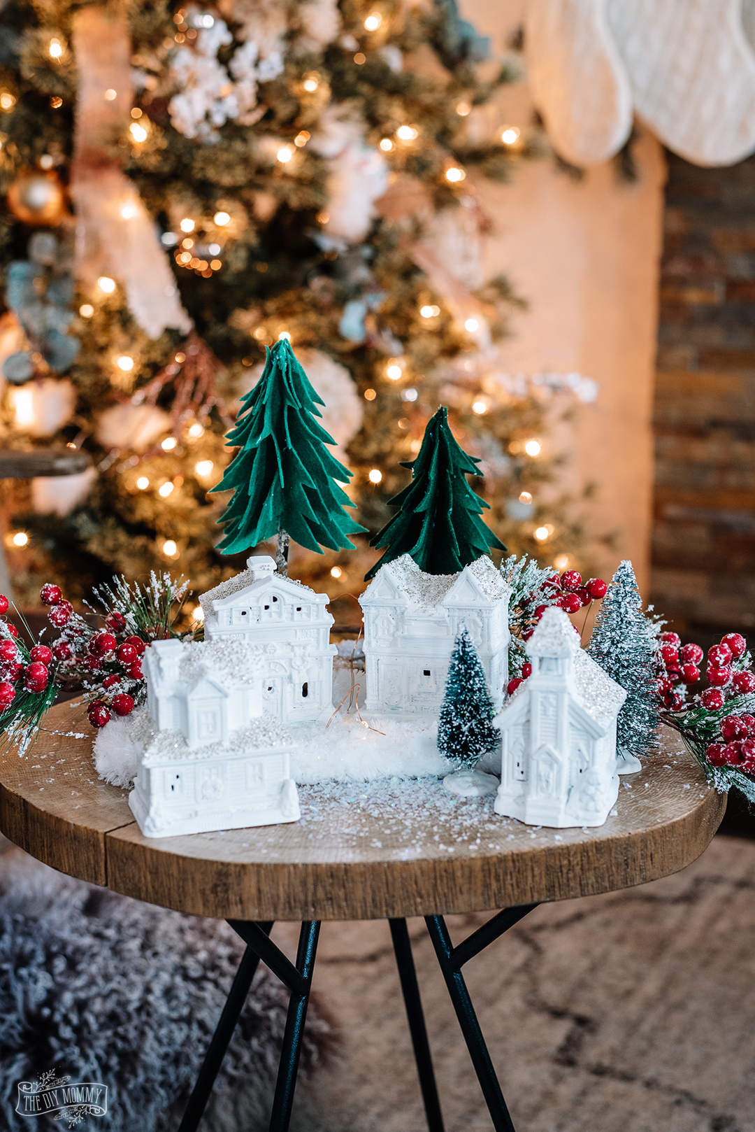 Elegant Diy Dollar Tree Christmas Village The Diy Mommy