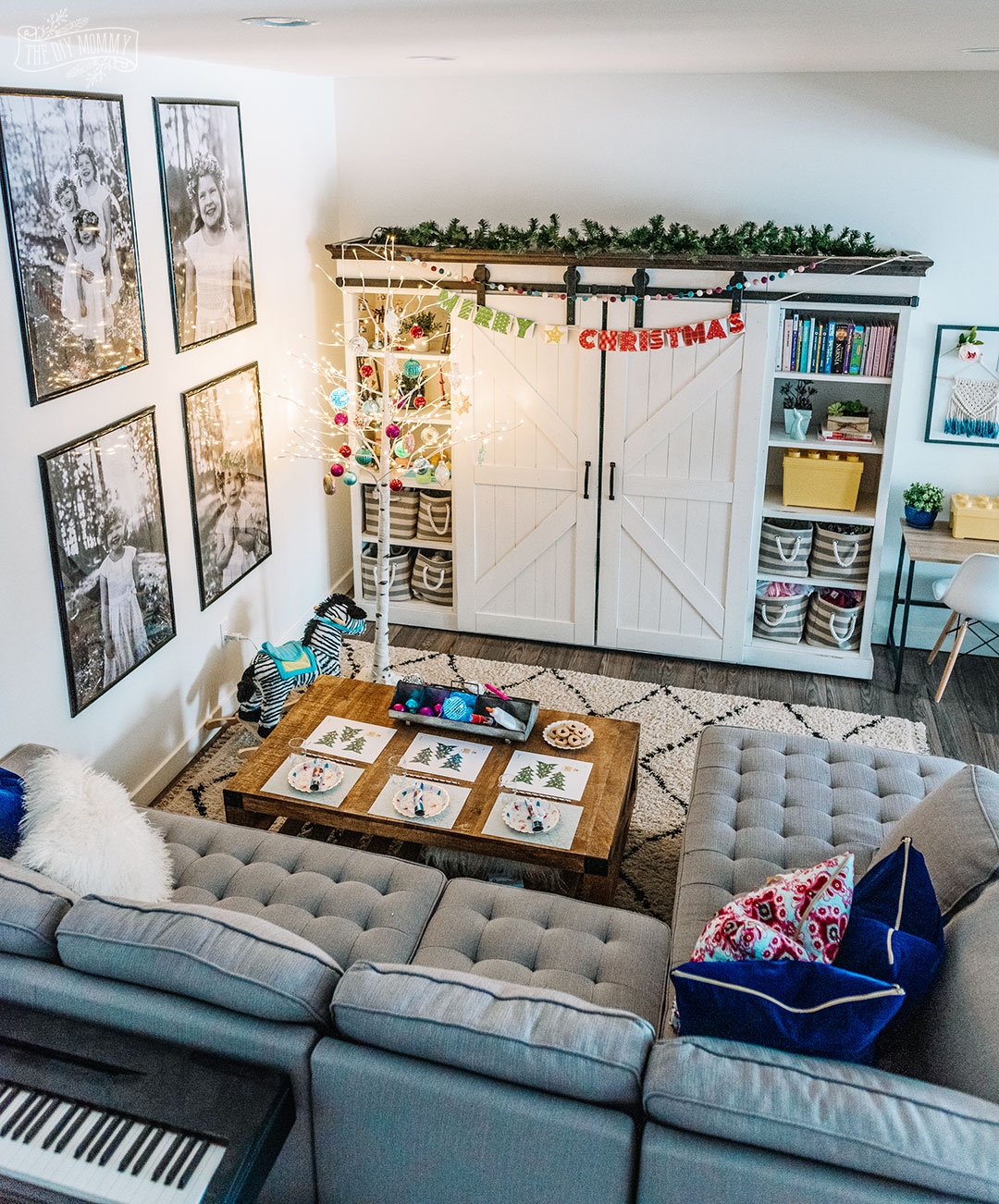 Basement Playroom Christmas Decor