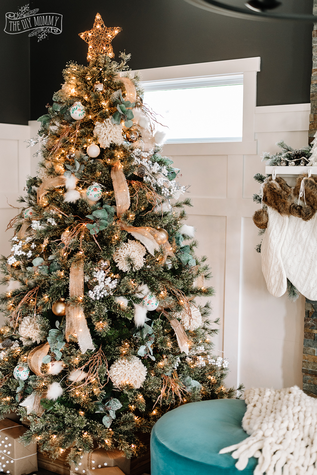 Rustic Boho Glam Christmas Tree Decorating Ideas