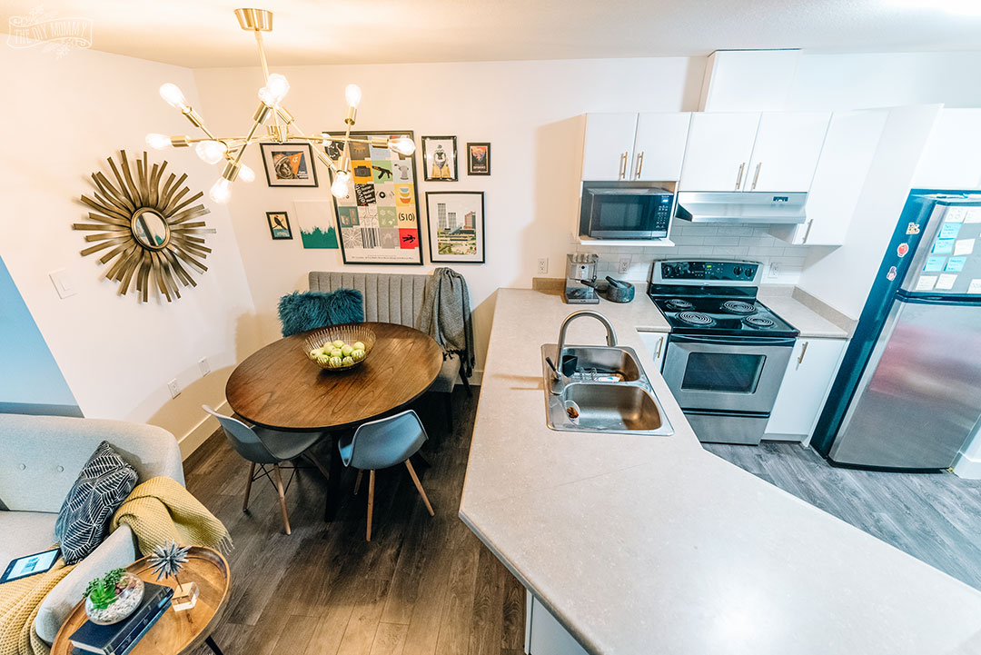 Colorful Midcentury Modern Small Condo Makeover