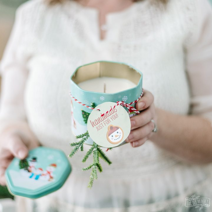 Soy Wax Candles with Essential Oils in Christmas Tins
