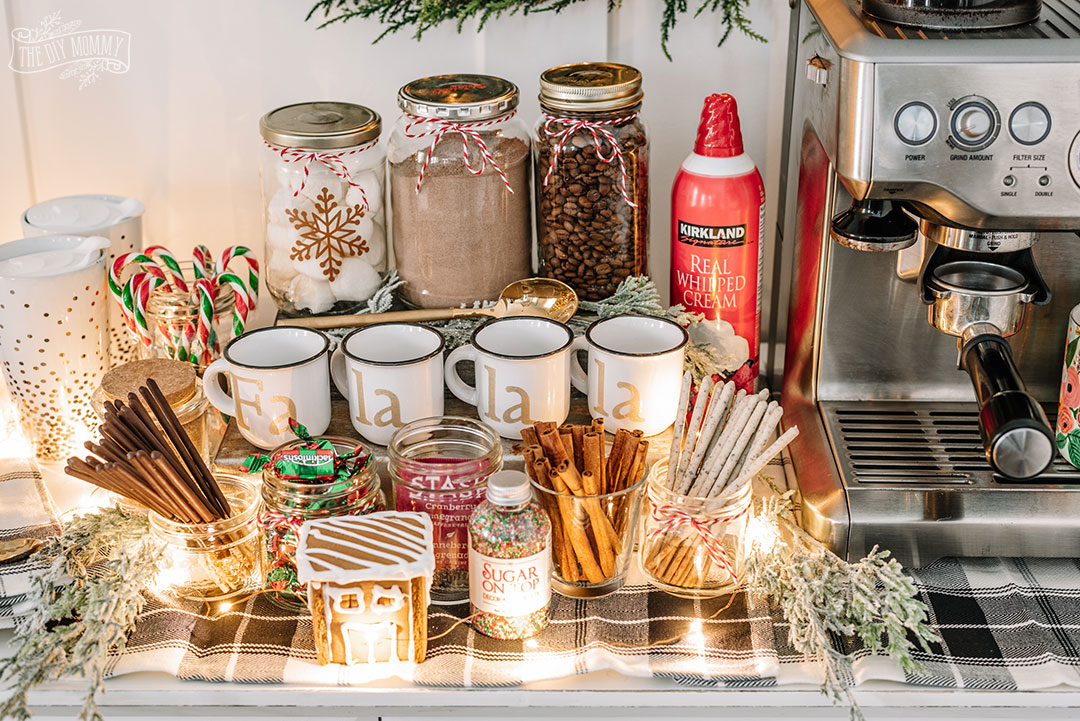 How to Create an Inexpensive Hot Chocolate Station for Christmas