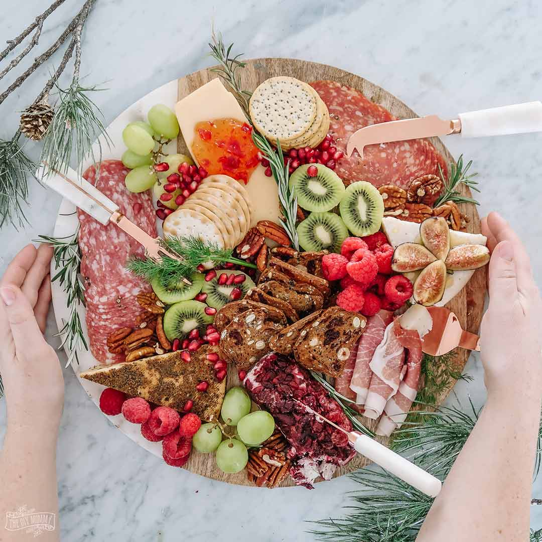 How to make an epic Christmas charcuterie cheese board in red & green