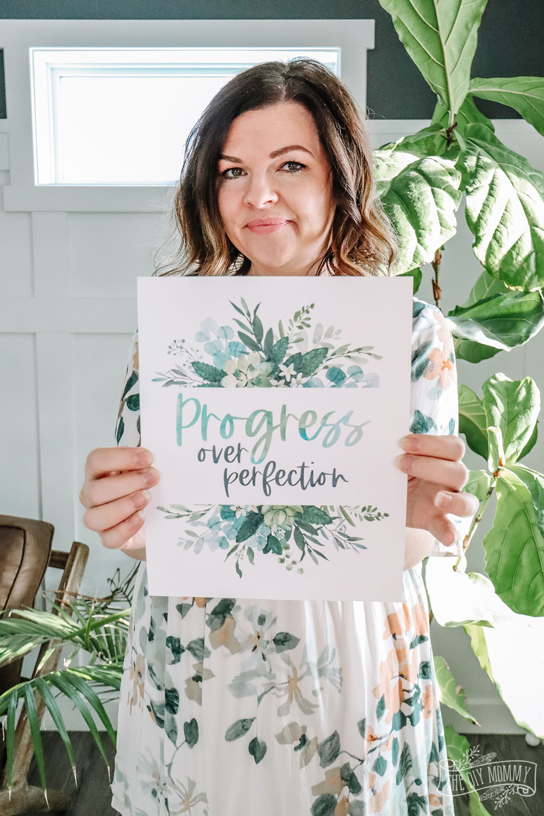 Progress over Perfection - Free Printable Art and Mobile Background