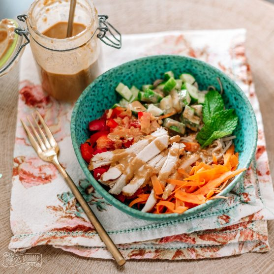 Thai Peanut Noodle Bowl WW Friendly