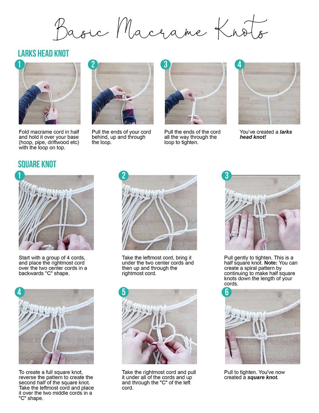 Basic Macrame Knots