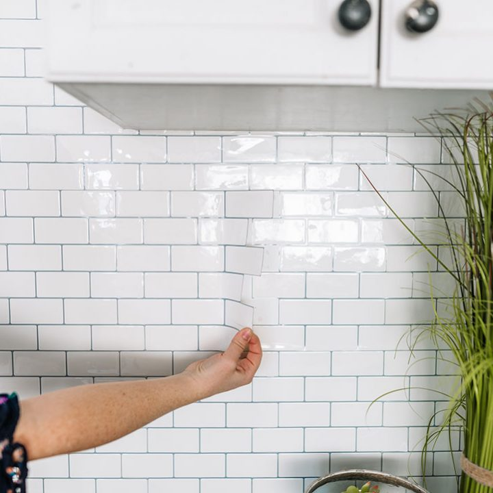 How to Install Peel and Stick Tile Backsplash