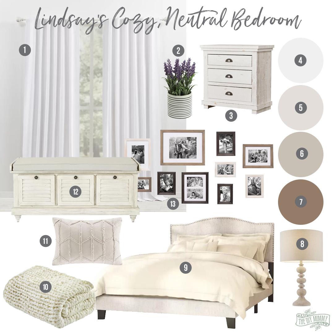 Cozy Neutral Bedroom Design Idea