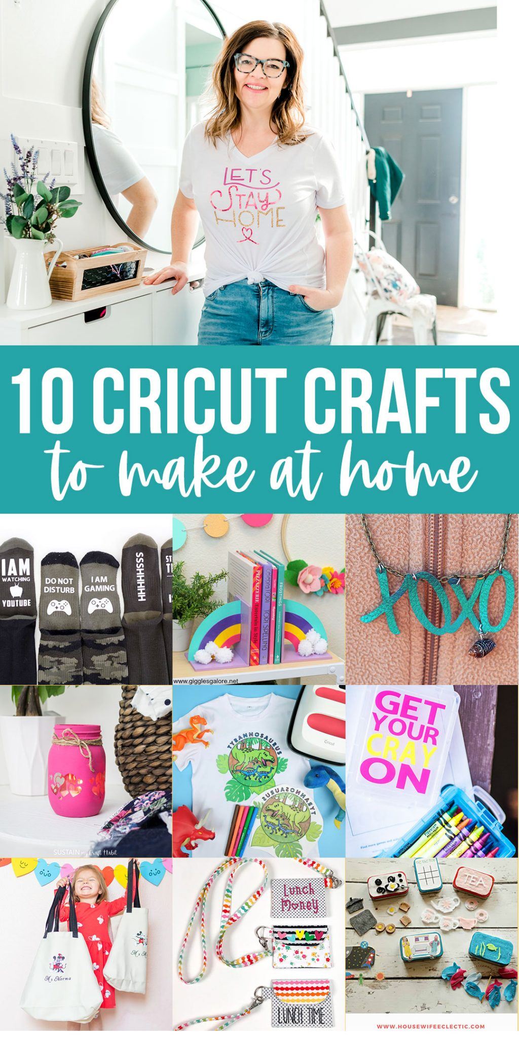 These Cricut DIY craft projects use little material so you can make them with what you have at home.
