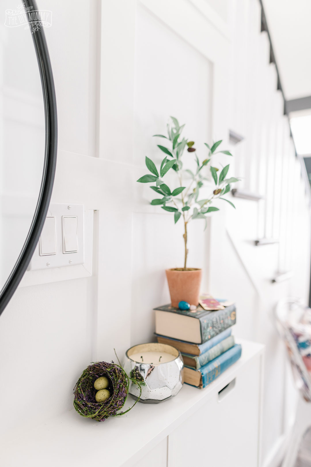 Learn how to make your home feel calm and safe this Spring while using what you have | Spring Home Tour Decor Ideas