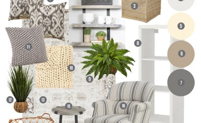 Cottage Inspired Craft Room Mood Board