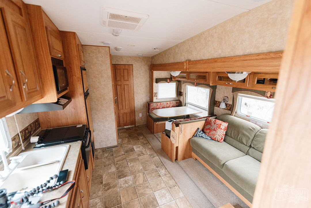 A before tour and renovation plans for Our DIY Camper 2.0. Budget friendly camper remodel ideas!