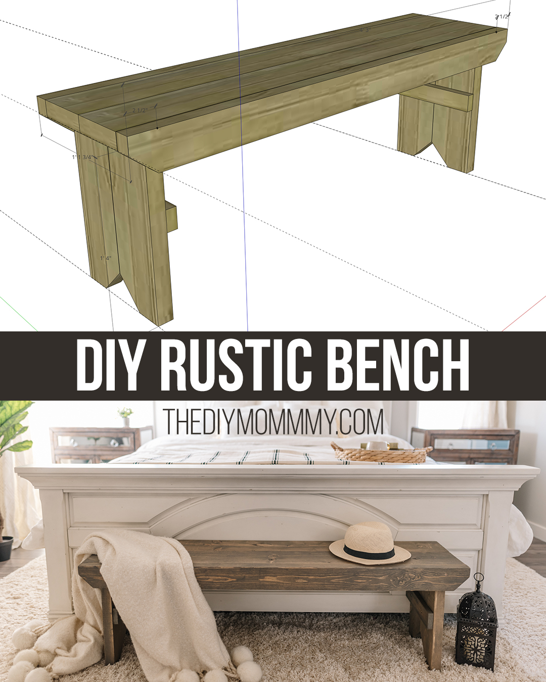 Free DIY Rustic Primitive Bench Building Plans