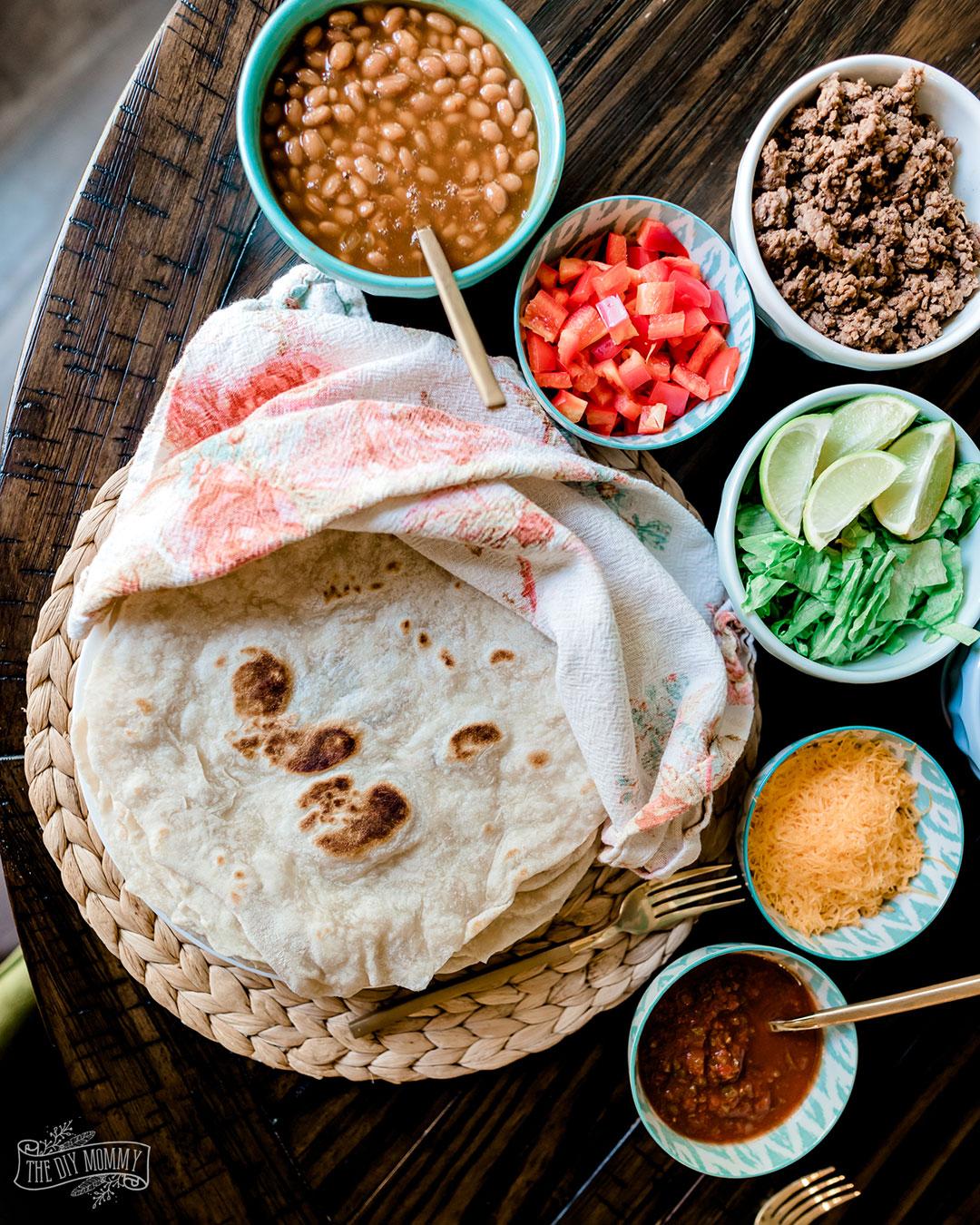 How to make easy flour tortillas