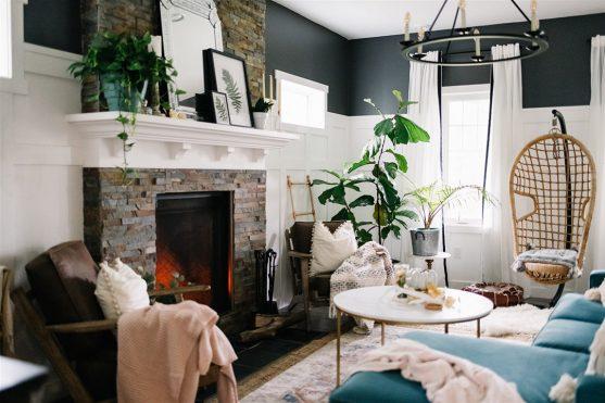 Boho Living Room Fall Decor Ideas