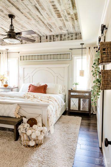 Fall bedroom decorating ideas with IKEA DIY hacks