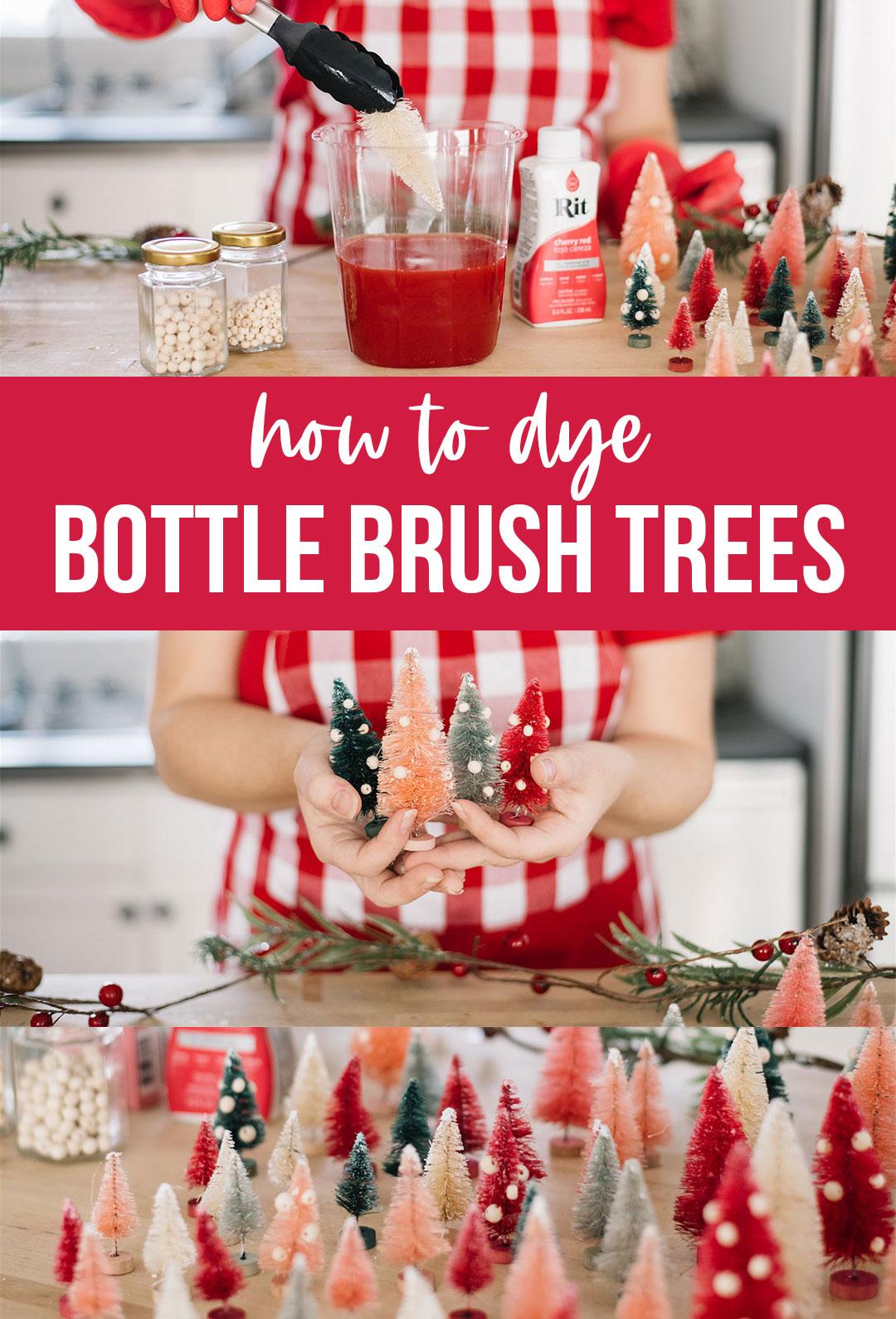How to Dye Bottle Brush Trees