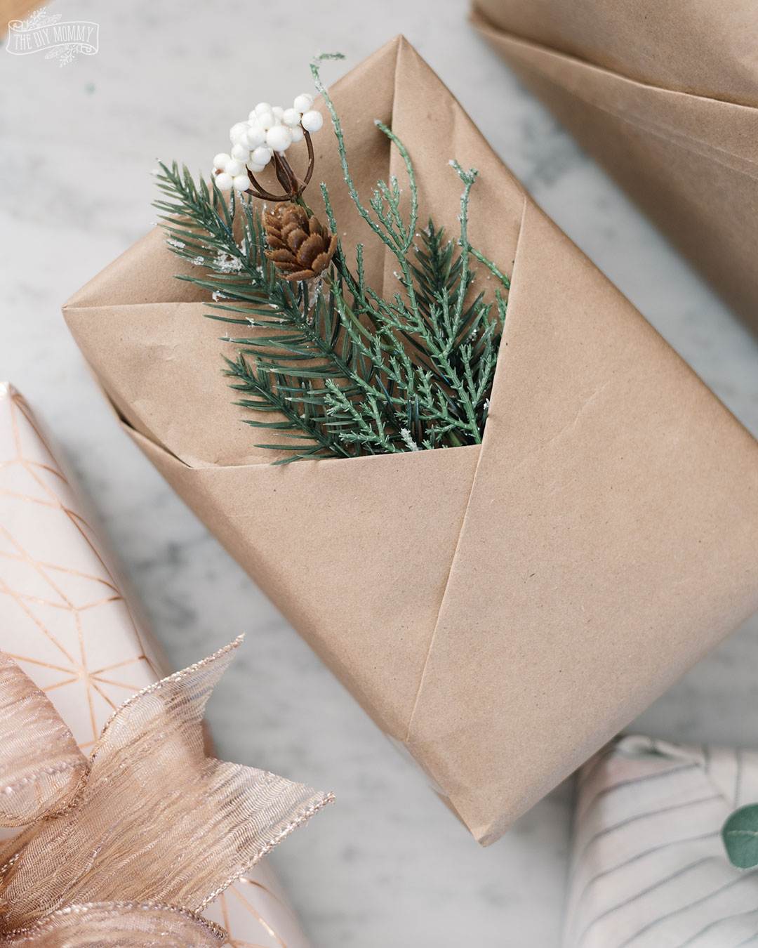 These beautiful gift wrap ideas are inexpensive and easy to recreate!