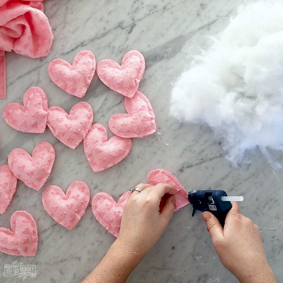 DIY No-Sew Fabric Heart Banner