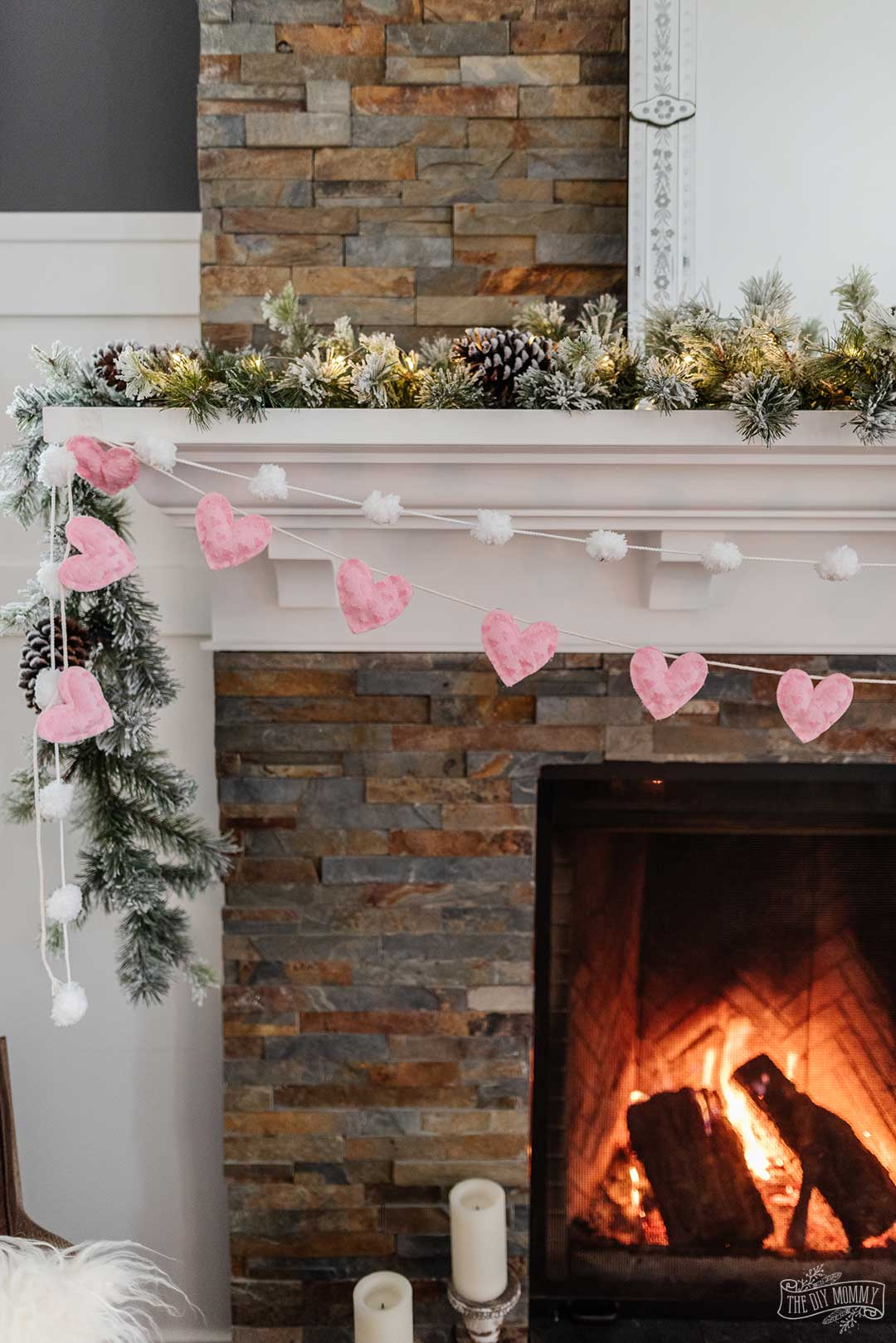 This DIY no-sew fabric heart banner is a sweet decor accent for Valentine's Day. The best part? It only takes 30 minutes to make and it doesn't require any sewing at all.