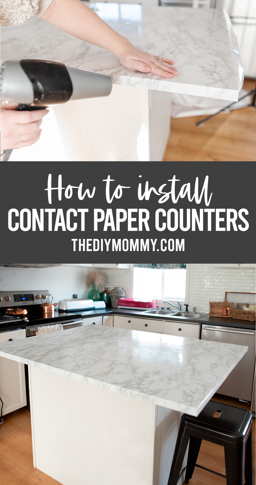 How to install contact paper countertop