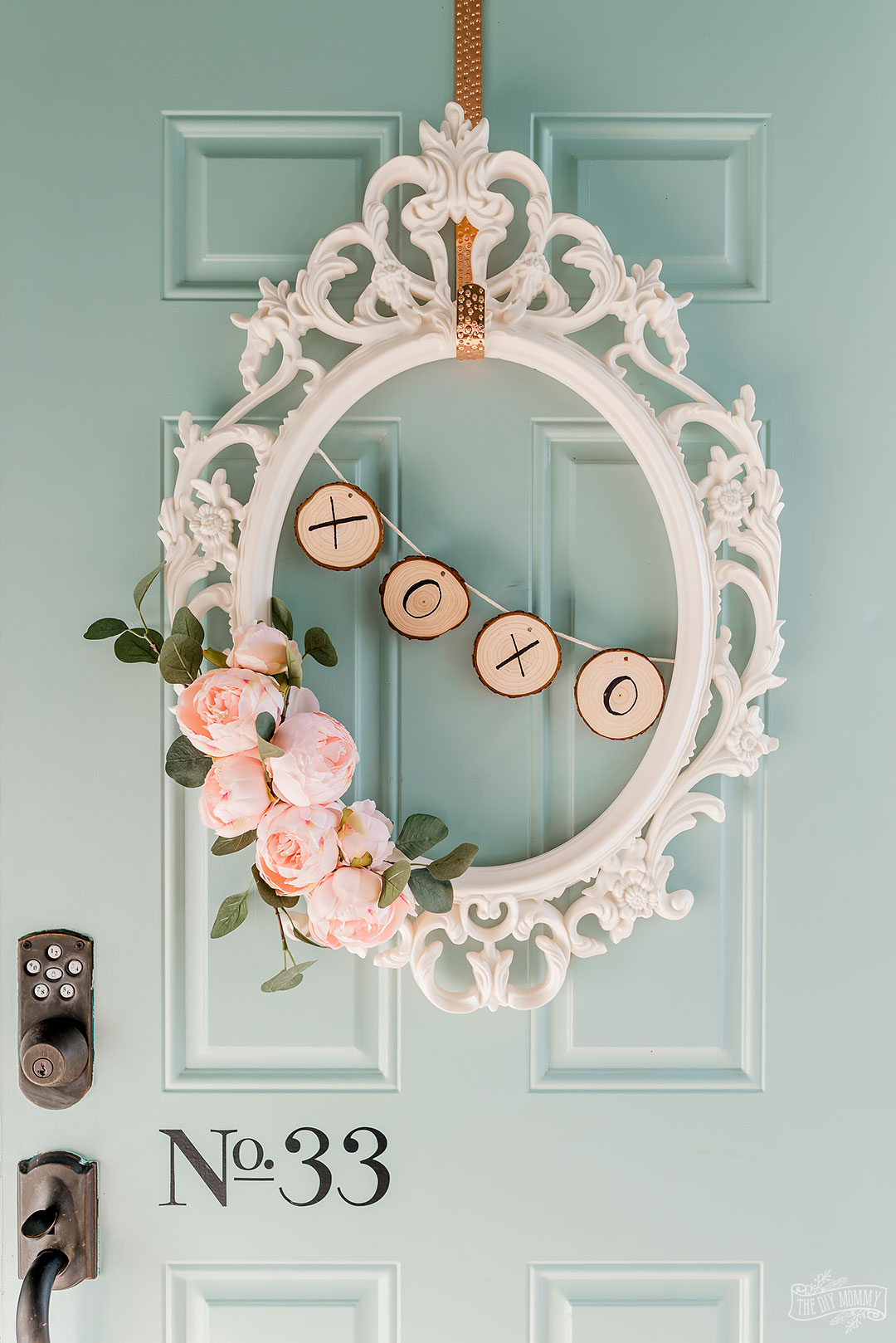 Let's make a romantic Valentine's Day wreath from an old IKEA picture frame! This DIY wreath is easy to make, and it has such a sweet vibe that's perfect for your Valentine decor.
