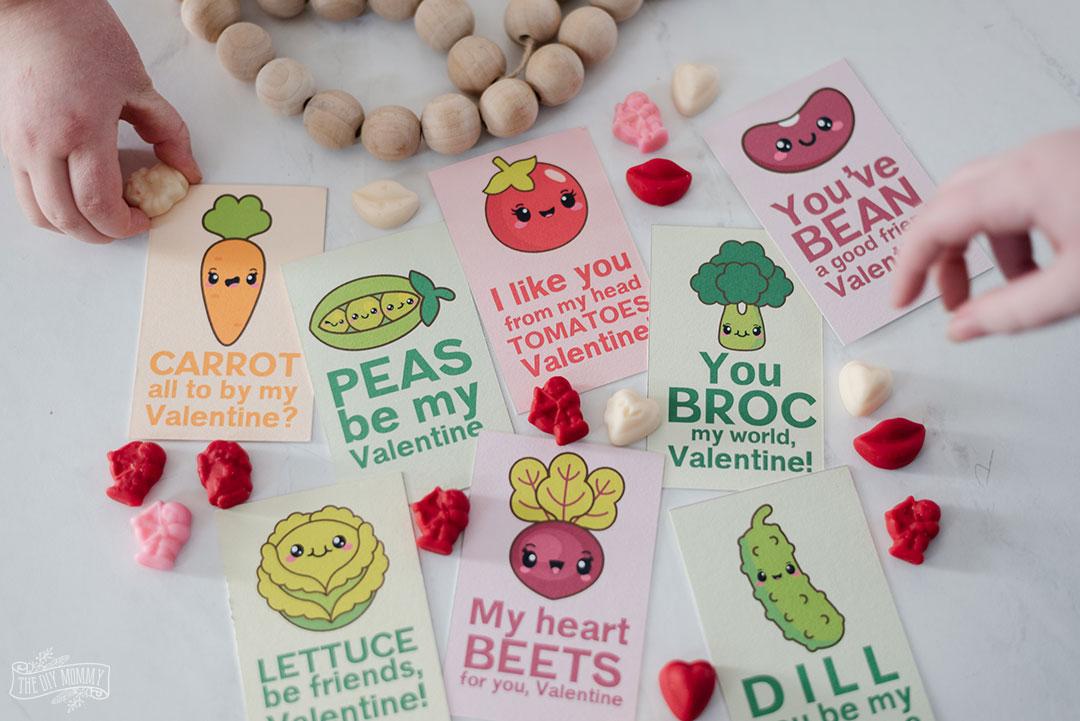 Veggie Puns Free Printable Valentines