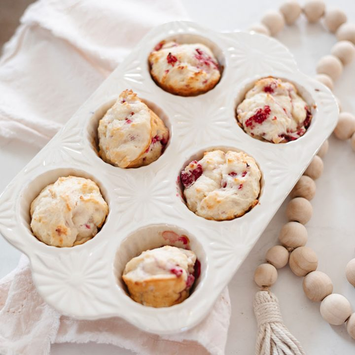 This raspberry muffin recipe is extra moist and flavourful with the addition of Greek yogurt. So simple to make!
