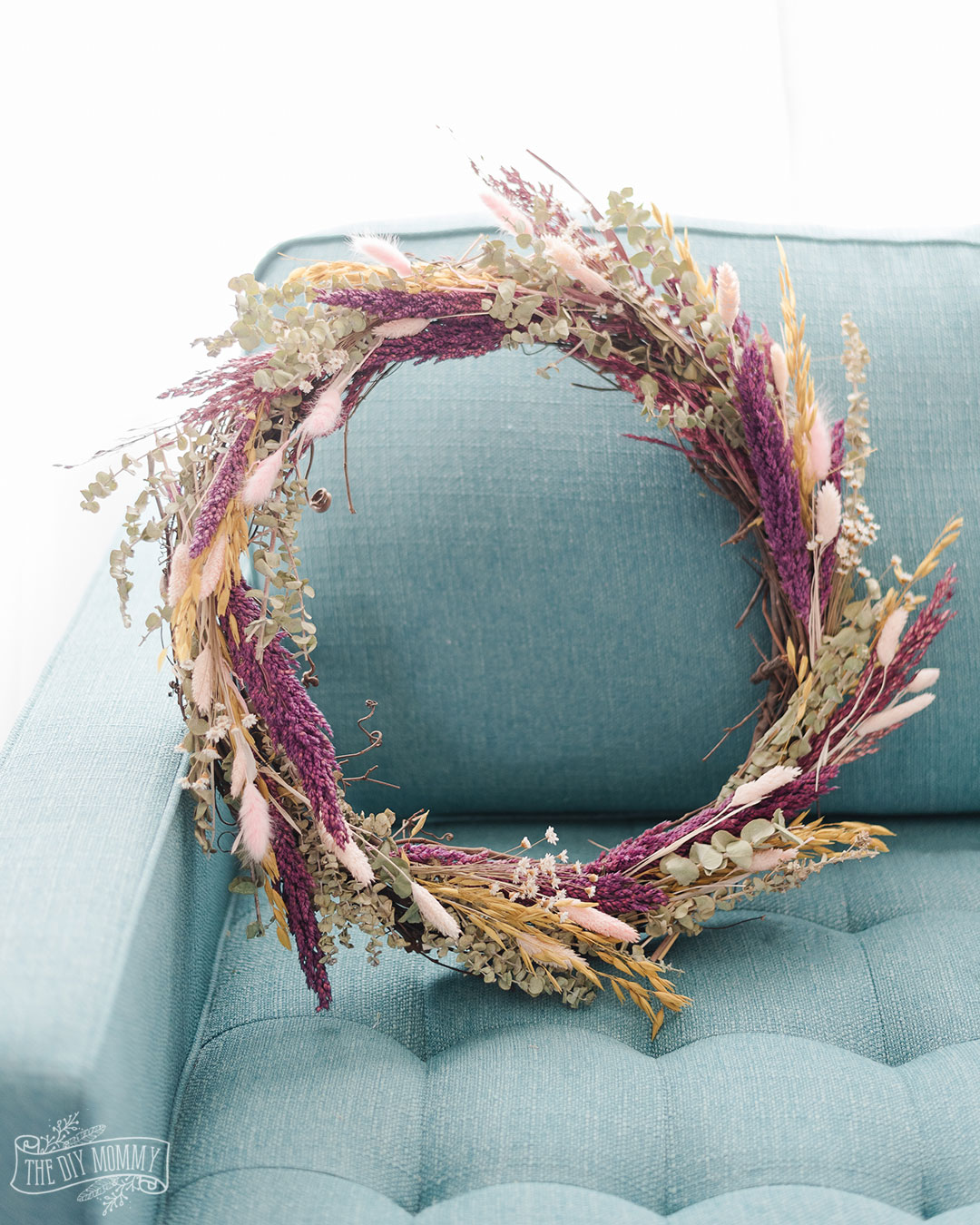 A dried floral wreath is a beautiful addition to your home decor. Making one is easy and fun! Here's how.