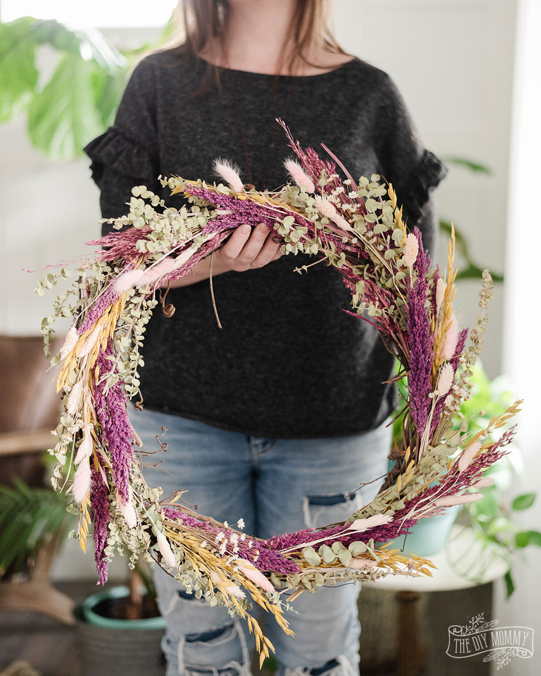 How to make a Dried Flower Wreath