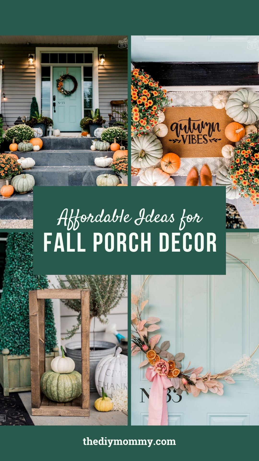 These 7 affordable fall porch decor ideas are simple DIYs that will give your home major Autumn curb appeal.