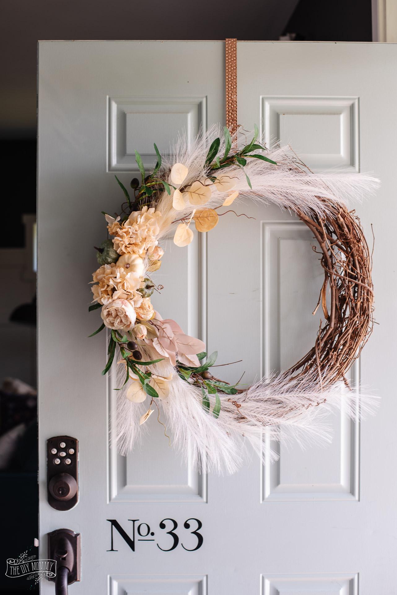 Romantic DIY Fall Grapevine Wreath