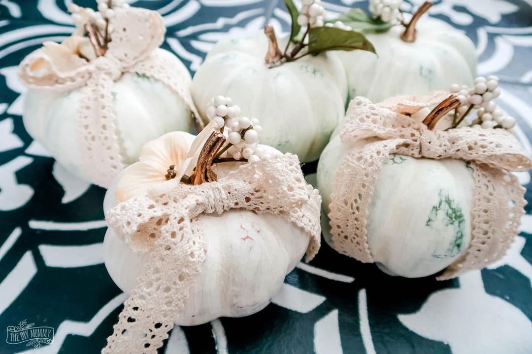 DIY Boho Chic Pumpkin Decor from Dollar Store Pumpkins
